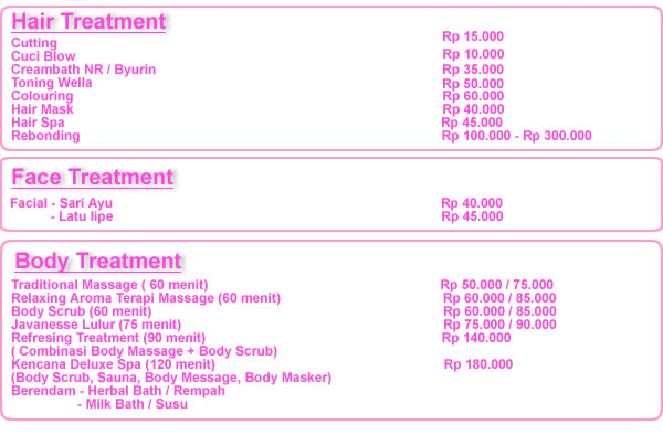 list-harga-kencana-treatment-salon-dan-spa