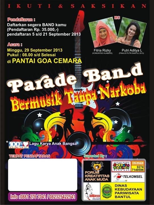 parade band bermusik tanpa narkoba