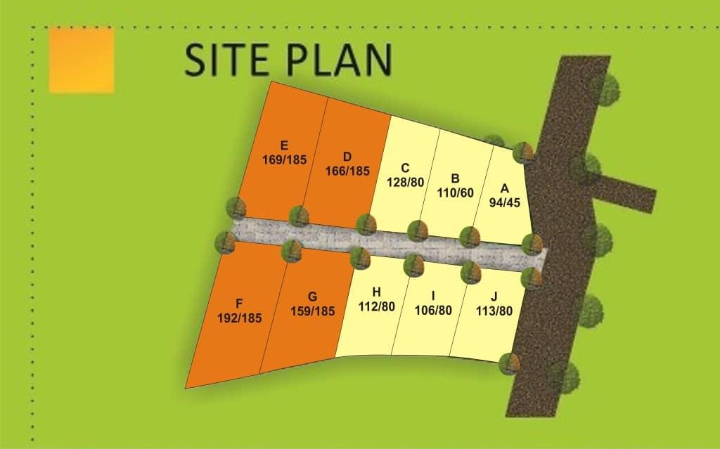 site plan kaliurang residence jogja