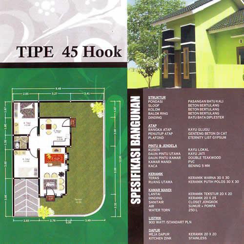 Tipe 45 Hook Yogyakarta Jogja