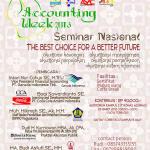 "Seminar Nasional ""The Best Choice A Better future"""