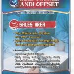 Sales Area Penerbit buku Andi offset