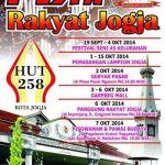 HUT Kota Yogyakarta ke 258 – Pesta Rakyat Jogja 2014