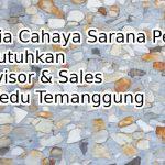PT Setia Cahaya Sarana Perkasa Membutuhkan Supervisor & Sales