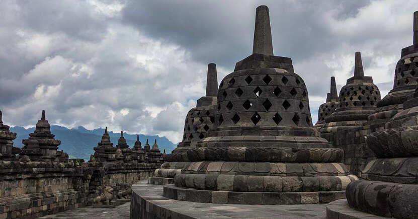 Relief candi borobudur - borobudur temple